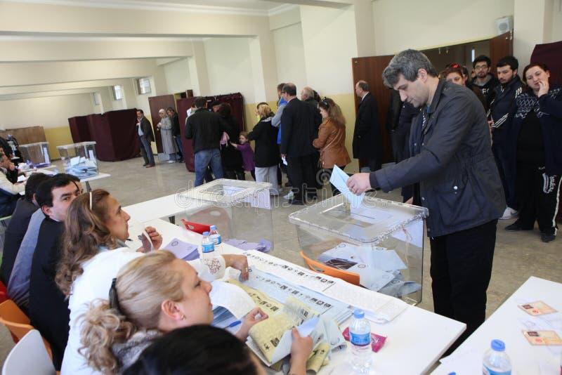 Τοπικές εκλογές στην Τουρκία. στοκ φωτογραφίες