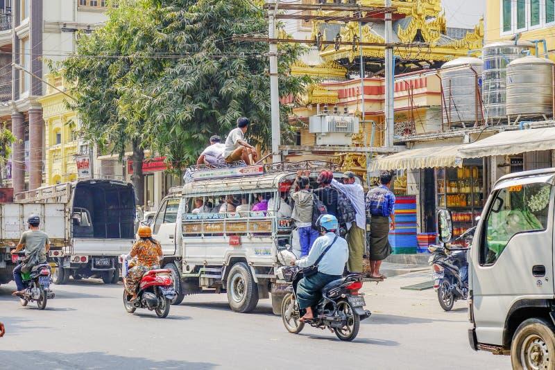 Τοπική μεταφορά στο Μιανμάρ στοκ εικόνα