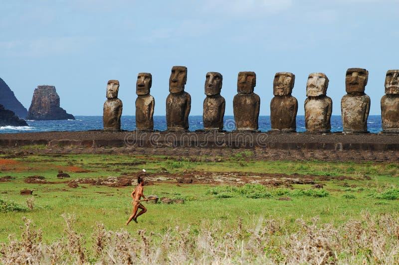Τοπικό άτομο - νησί Πάσχας στοκ εικόνα με δικαίωμα ελεύθερης χρήσης