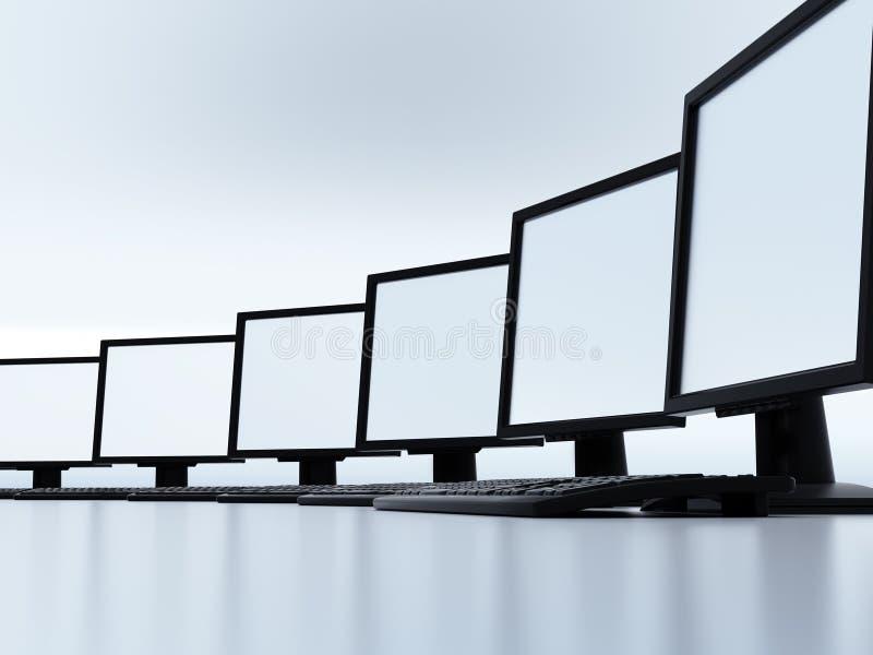 τοπικό δίκτυο υπολογιστών διανυσματική απεικόνιση