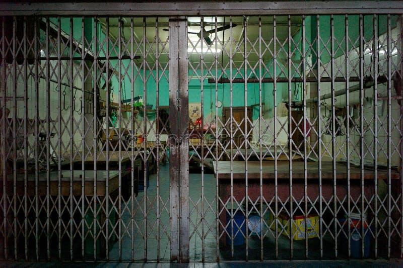 Τοπικό κατάστημα χασάπηδων που κλείνουν στη Μαλαισία στοκ φωτογραφίες
