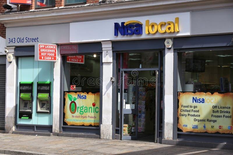 Τοπικό κατάστημα Nisa στοκ φωτογραφίες με δικαίωμα ελεύθερης χρήσης