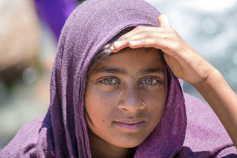 Τοπικό νέο κορίτσι σε Manali, Ινδία στοκ φωτογραφία με δικαίωμα ελεύθερης χρήσης