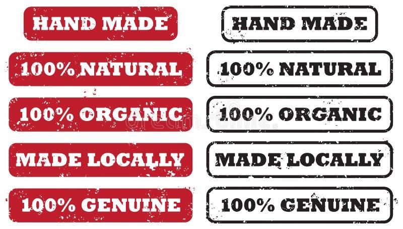 Τοπικό χέρι - γίνοντα σύνολο γραμματοσήμων ελεύθερη απεικόνιση δικαιώματος