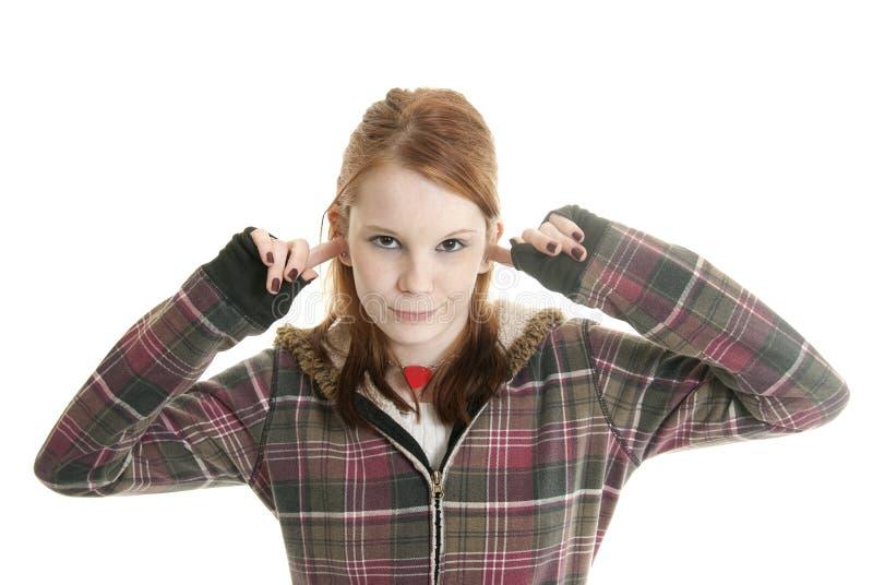 τοποθέτηση εφηβική στοκ φωτογραφία
