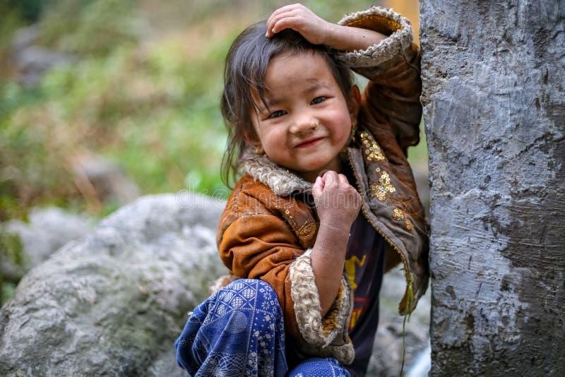 Τοποθέτηση κοριτσιών Sherpa στοκ εικόνα