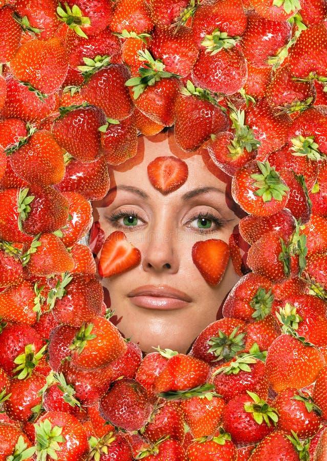 τοποθέτηση της φράουλας  στοκ φωτογραφίες με δικαίωμα ελεύθερης χρήσης