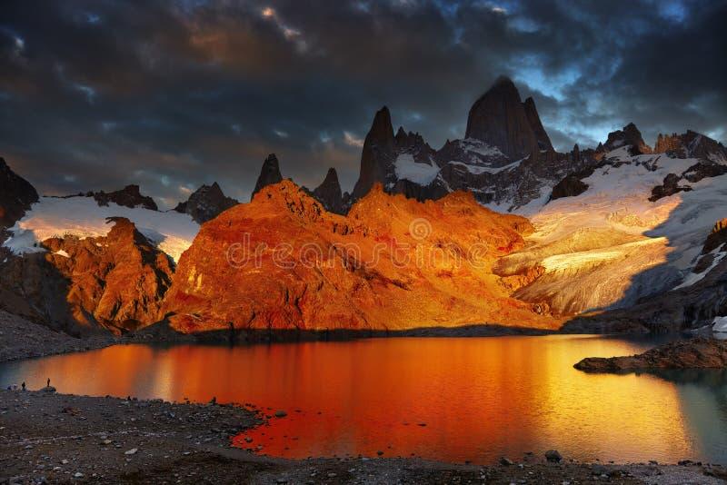 Τοποθετήστε τη Fitz Roy, Παταγωνία, Αργεντινή στοκ φωτογραφία με δικαίωμα ελεύθερης χρήσης
