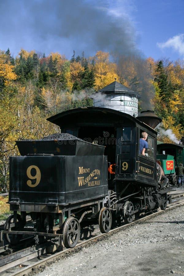 Τοποθετήστε το σιδηρόδρομο βαραίνω της Ουάσιγκτον locomotiv στοκ φωτογραφίες με δικαίωμα ελεύθερης χρήσης