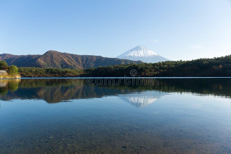 Τοποθετήστε το Φούτζι και τη λίμνη Saiko στοκ φωτογραφίες με δικαίωμα ελεύθερης χρήσης