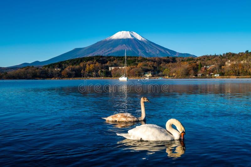 Τοποθετήστε το Φούτζι και τη λίμνη Yamanaka στοκ φωτογραφίες