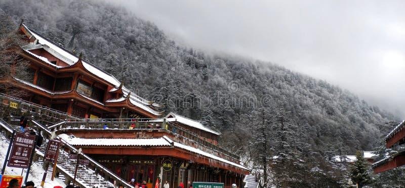 Τοποθετήστε το emei sichuan στην επαρχία; στοκ εικόνα με δικαίωμα ελεύθερης χρήσης
