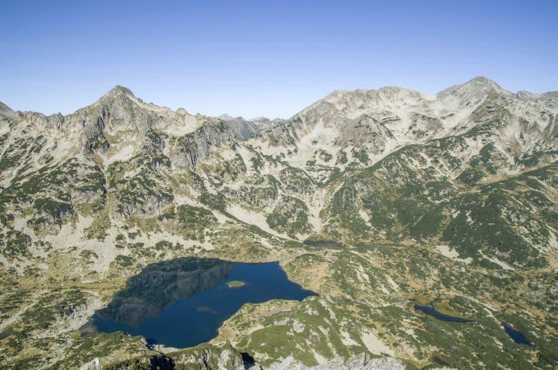 Τοποθετήστε Djangala, τοποθετήστε τη λίμνη Polejan και Popovo σε Pirin εθνικό στοκ φωτογραφίες