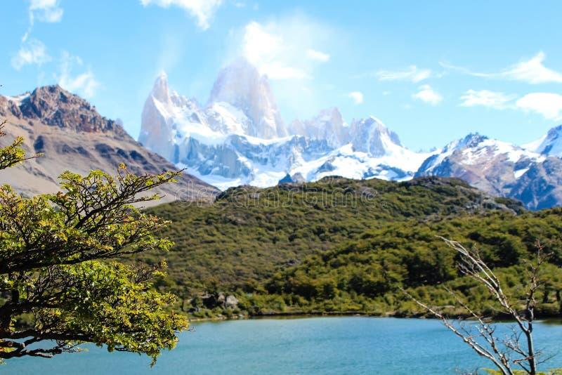 Τοποθετήστε fitz το Roy στη EL Chalten, εθνικό πάρκο Los Glaciares σε Arg στοκ φωτογραφία με δικαίωμα ελεύθερης χρήσης