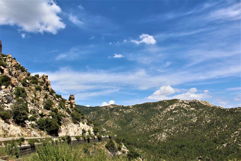 Τοποθετήστε Lemmon, Santa Catalina Mountains, εθνικό δρυμός Coronado, Tucson, Αριζόνα, Ηνωμένες Πολιτείες στοκ φωτογραφία