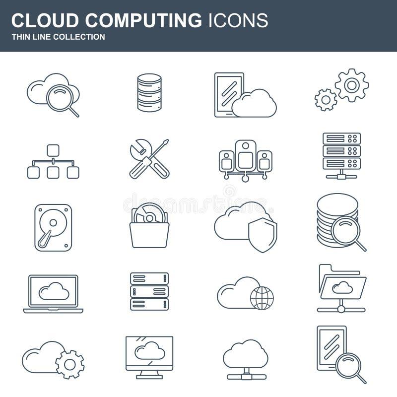 τοποθετημένα lap-top στοιχεία συμπεριφοράς έννοιας υπολογισμού υπολογιστών επικοινωνίας σύννεφων Τεχνολογία δικτύων αποθήκευσης σ ελεύθερη απεικόνιση δικαιώματος