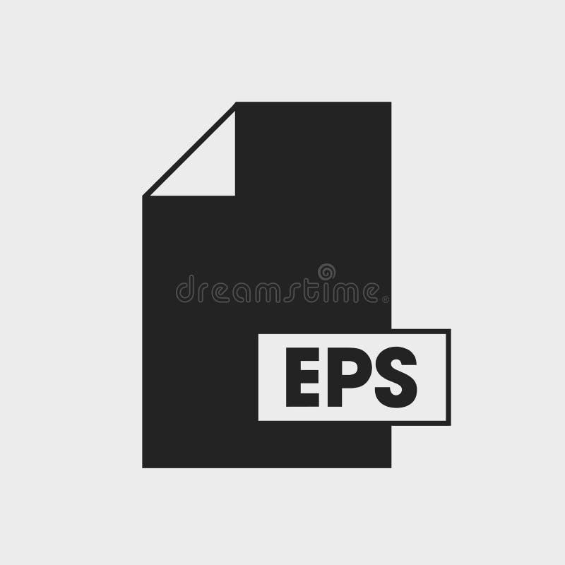 Τοποθετημένο σε κάψα εικονίδιο μορφής αρχείου Post$l*script EPS απεικόνιση αποθεμάτων