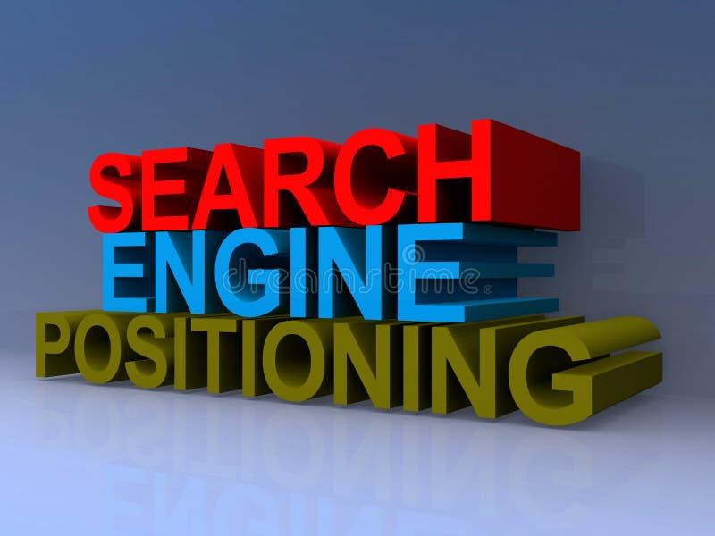 Τοποθετώντας τίτλος μηχανών αναζήτησης απεικόνιση αποθεμάτων