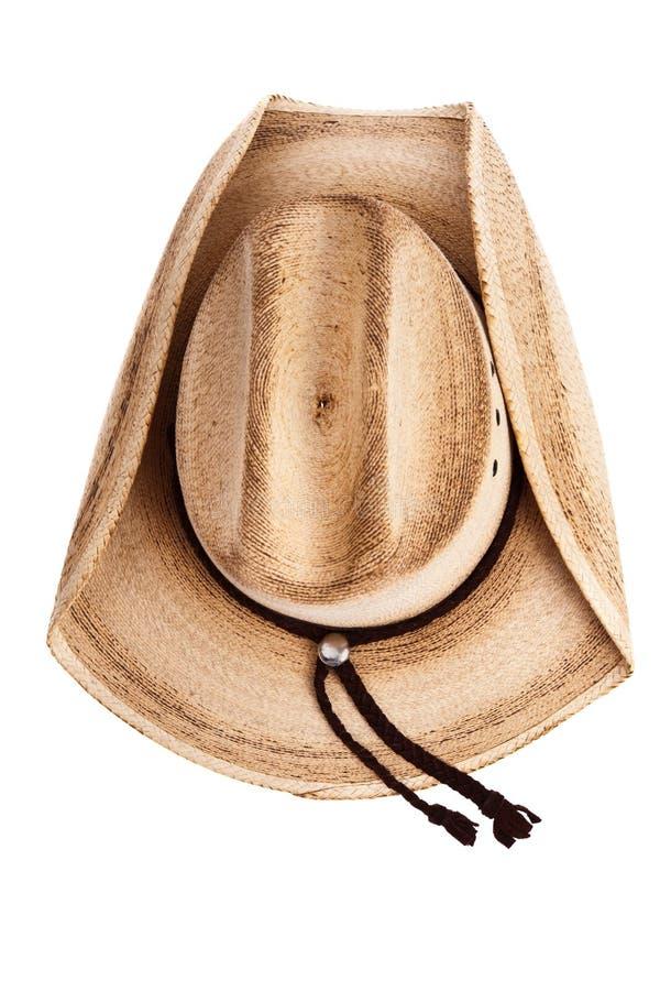 Τοπ άποψη ενός καπέλου κάουμποϋ στοκ εικόνα