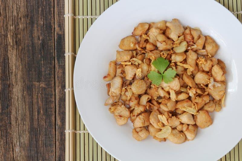 Τοπ άποψη κοτόπουλου σκόρδου και πιπεριών στοκ φωτογραφία με δικαίωμα ελεύθερης χρήσης