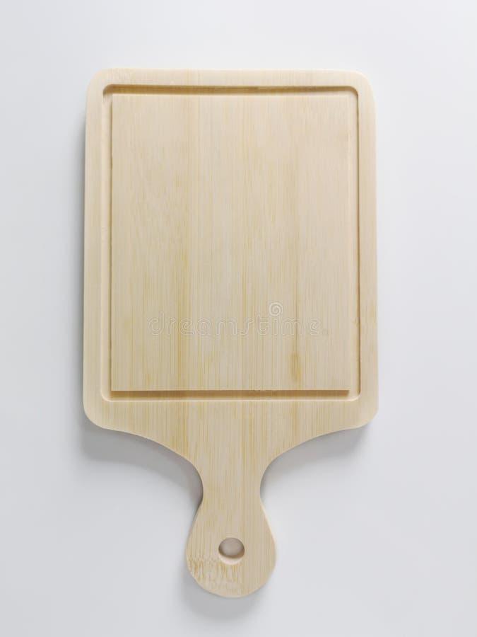 Τοπ άποψη, ξύλινοι τέμνοντες πίνακας και λαβή στοκ φωτογραφία με δικαίωμα ελεύθερης χρήσης