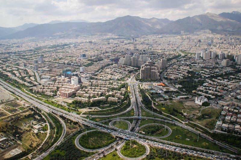 Τοπ άποψη της ιρανικής κύριας Τεχεράνης στοκ εικόνες