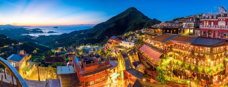 Τοπ άποψη της παλαιάς οδού Jiufen στη Ταϊπέι στοκ εικόνα με δικαίωμα ελεύθερης χρήσης