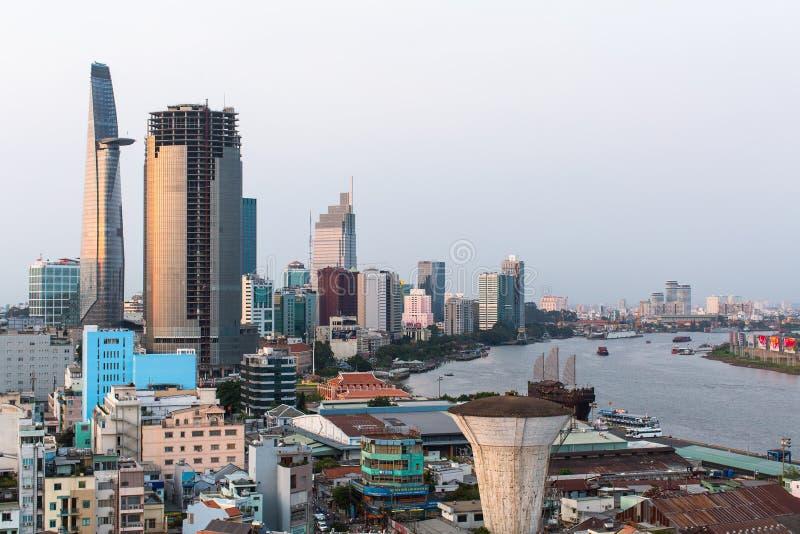 Τοπ άποψη της πόλης Χο Τσι Μινχ στοκ φωτογραφία με δικαίωμα ελεύθερης χρήσης