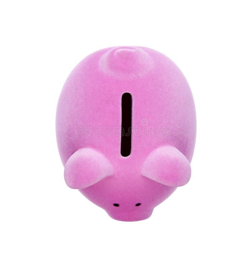 Τοπ άποψη της ρόδινης piggy τράπεζας στοκ εικόνα με δικαίωμα ελεύθερης χρήσης