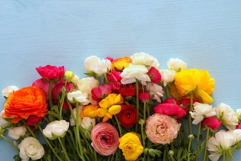 Τοπ άποψη της όμορφης ρύθμισης λουλουδιών στοκ φωτογραφία με δικαίωμα ελεύθερης χρήσης