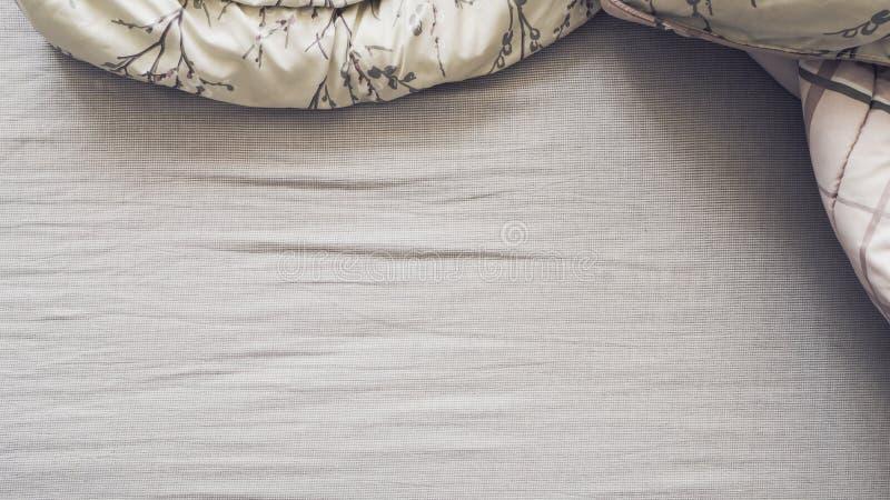 Τοπ άποψη του κρεβατιού στοκ εικόνες