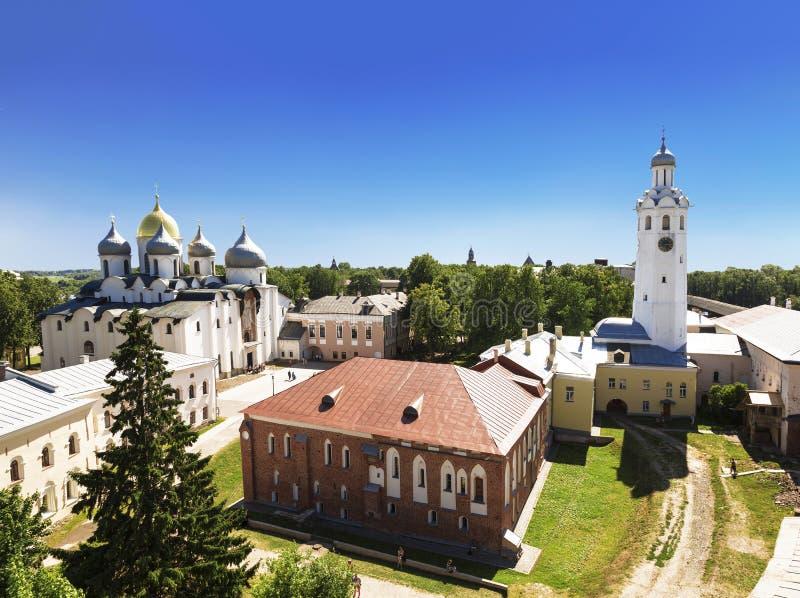 Τοπ άποψη του Κρεμλίνου σε Veliky Novgorod στοκ φωτογραφία με δικαίωμα ελεύθερης χρήσης