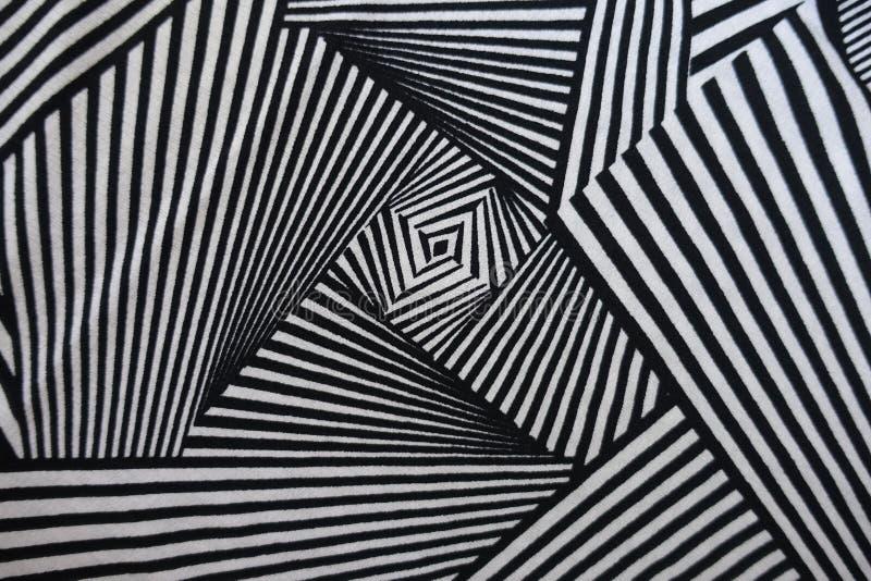 Τοπ άποψη του υφάσματος με τη γεωμετρική τυπωμένη ύλη στοκ εικόνα