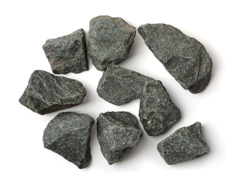 Τοπ άποψη των συντριμμένων πετρών γρανίτη στοκ εικόνες