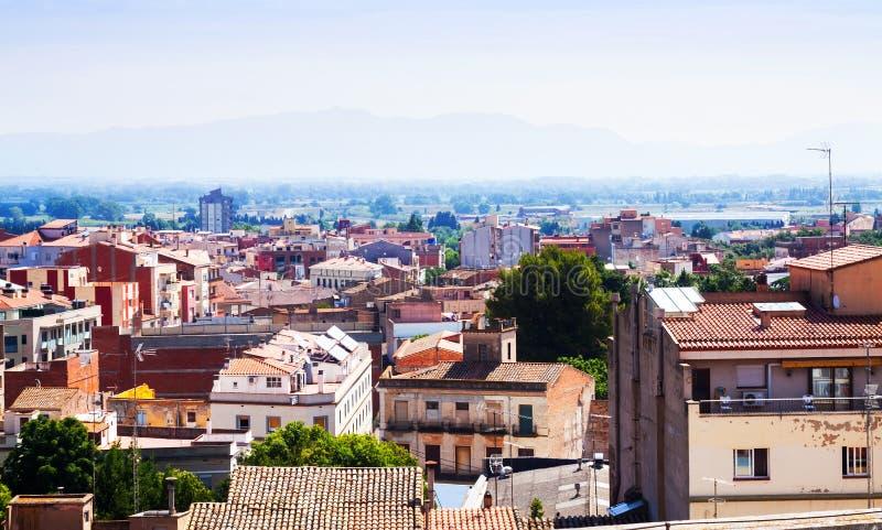 Τοπ άποψη Figueres. Καταλωνία στοκ εικόνες με δικαίωμα ελεύθερης χρήσης