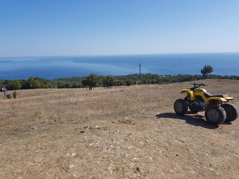 Τοπ άποψη Hill στη Βουλγαρία στοκ φωτογραφίες με δικαίωμα ελεύθερης χρήσης