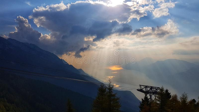 Τοπ άποψη Montebaldo στοκ εικόνες
