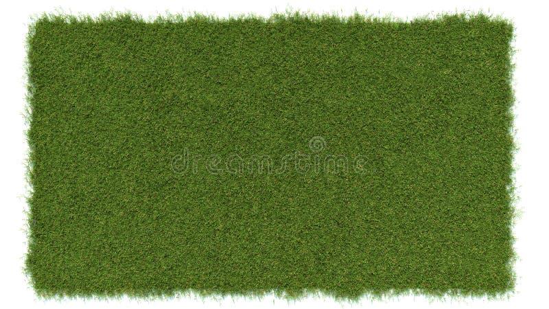 Τοπ γωνία άποψης του πράσινου λιβαδιού χλόης ελεύθερη απεικόνιση δικαιώματος