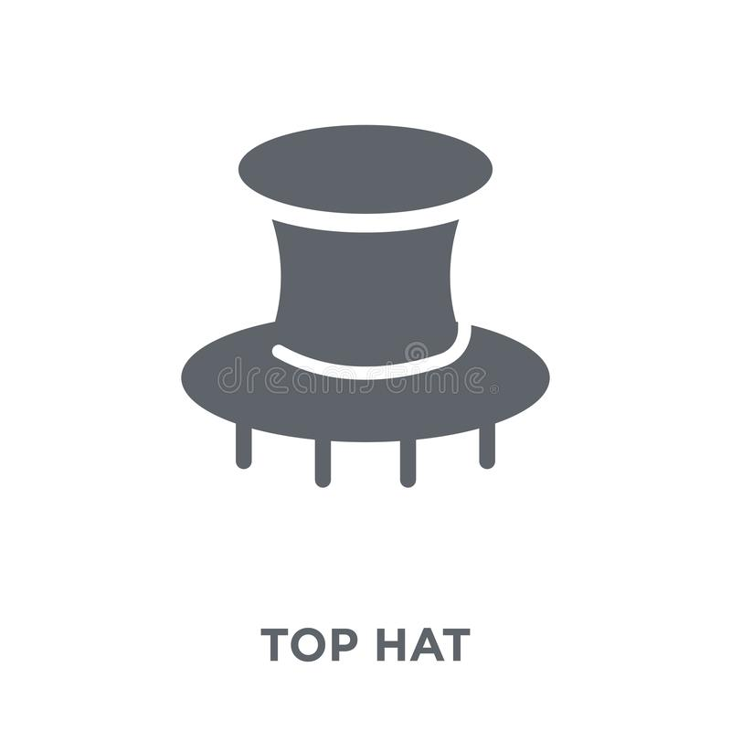 Τοπ εικονίδιο καπέλων από τη συλλογή διανυσματική απεικόνιση