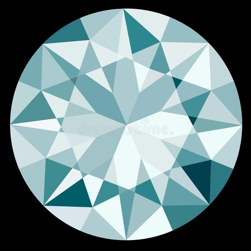 Τοπ διαμάντι άποψης στο μαύρο σχήμα απεικόνισης EPS10 υποβάθρου ελεύθερη απεικόνιση δικαιώματος