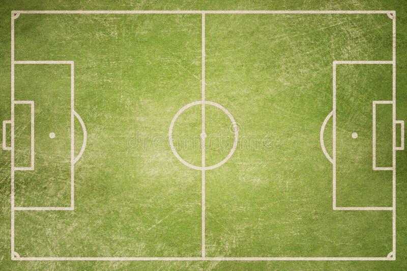 Τοπ υπόβαθρο άποψης γηπέδων ποδοσφαίρου grunge ελεύθερη απεικόνιση δικαιώματος