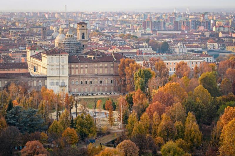 Τορίνο Τουρίνο Royal Palace και βασιλικοί κήποι στοκ εικόνα