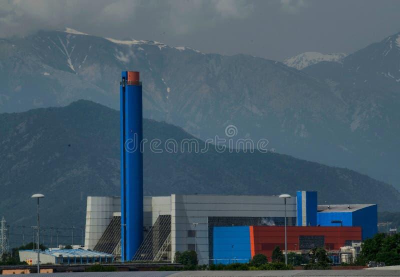 Τορίνο, Gerbido, Piedmont Ιταλία στις 27 Μαΐου 2018 Οι απόβλητο--ενεργειακές εγκαταστάσεις της ΟΜΆΔΑΣ επιχείρησης trm-IREN στοκ φωτογραφίες με δικαίωμα ελεύθερης χρήσης