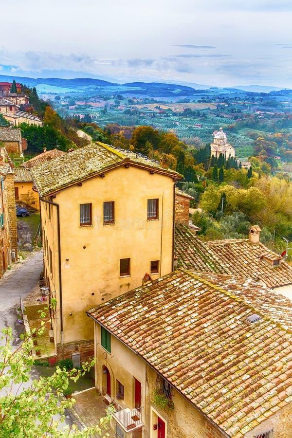 Τοσκάνη, πανοραμικό τοπίο, Ιταλία στοκ φωτογραφία με δικαίωμα ελεύθερης χρήσης