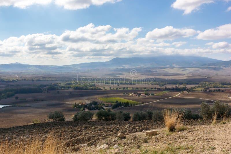Τοσκάνη - τομείς των ονείρων στοκ εικόνες