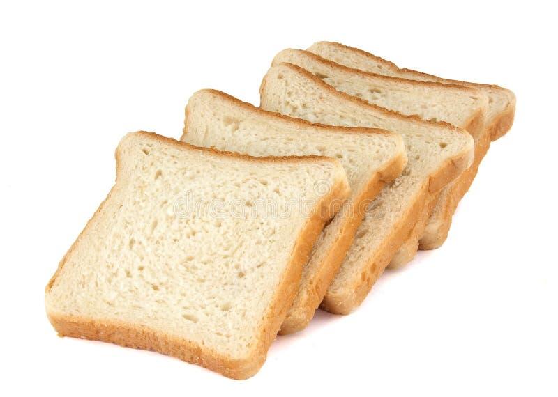 Τοστ ψωμί σε φέτες απομονωμένο σε λευκό φόντο στοκ εικόνα με δικαίωμα ελεύθερης χρήσης