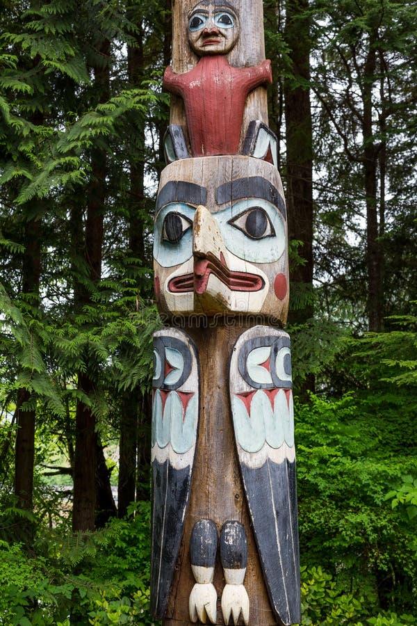 Τοτέμ Πολωνός στο Pacific Northwest στοκ εικόνες