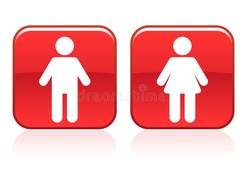 τουαλέτα σημαδιών διανυσματική απεικόνιση
