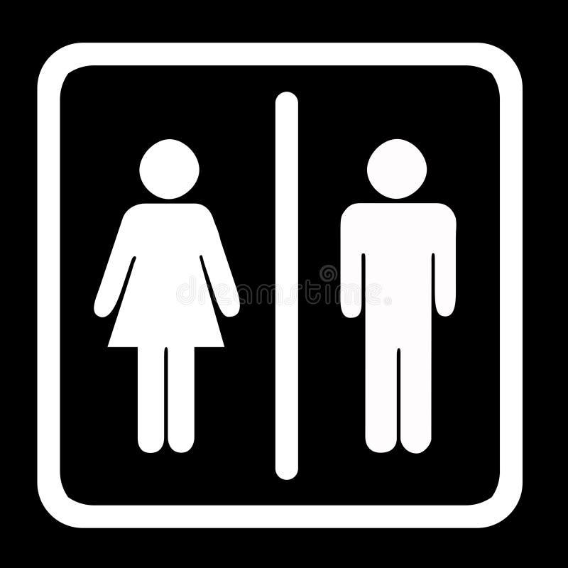 τουαλέτα σημαδιών ελεύθερη απεικόνιση δικαιώματος