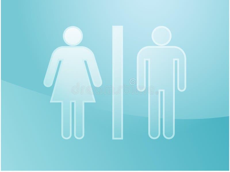 τουαλέτα συμβόλων απει&kapp διανυσματική απεικόνιση